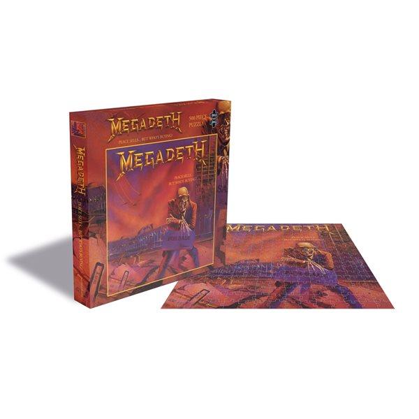 Puzzle Megadeth  Peace SELLS...BUT WHO'S BUYING? (500 Piece Jigsaw PUZZLE)