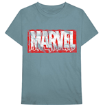 Marvel Superheroes T-Shirt unisex - Design: Distressed Dripping Logo