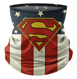 Superman Classic Symbol und Flag Print Face Mask Gamasche