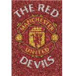Manchester United Red Devils Mosaic Maxi Poster