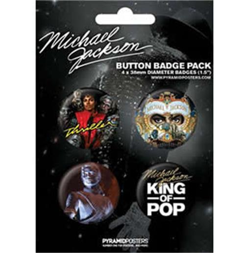 Set Broschen Michael Jackson-King of Pop