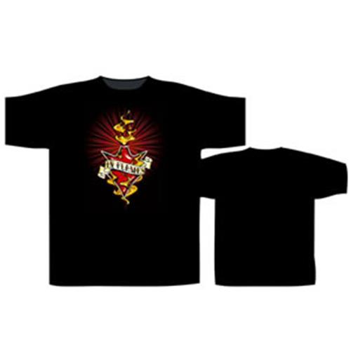 T-Shirt In Flames-Burning Jester