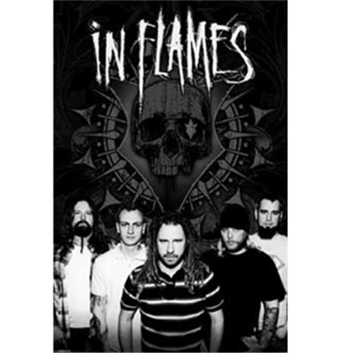 Poster In Flames B/W Group