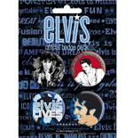 Set Broschen Elvis Presley-The King