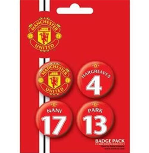 Set Broschen Manchester United FC-Players 3