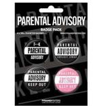 Set Broschen Parental Advisory