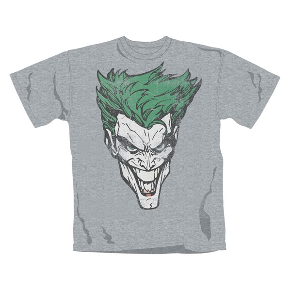 T-Shirt Batman Joker Retro Face. Offizielles Emi Music Produkt