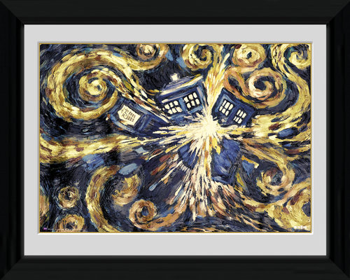 Poster Doctor Who  Exploding Tardis