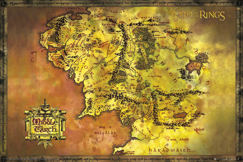 Poster The Lord of the Ring Classic Map