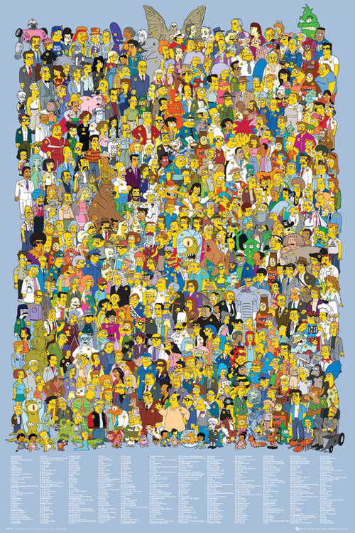 Poster Die Simpsons  Cast 2012