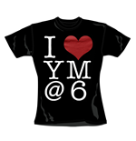 T-Shirt You me at Six I Heart.  Offizielles Emi Music Produkt