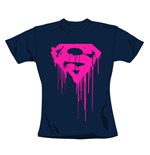 T-Shirt Superman Navy.Offizielles Emi Music Produkt
