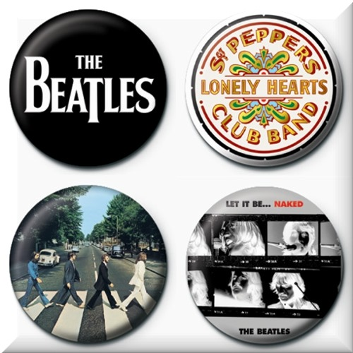 Set Broschen Beatles