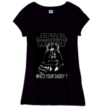 Star Wars Ladies T-Shirt Who´s Your Daddy schwarz