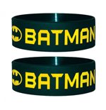 Batman Gummi Wristband Text & Logo