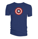 T-Shirt Captain America  - Shield Distressed
