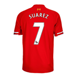T-Shirt Liverpool Home 2013-14 für Kinder (Suarez 7)
