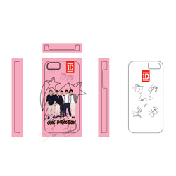 One Direction iPHone 4S Schale 1D Motiv: Pink Stars